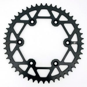 N1M 7075-T6 Aluminum Rear Sprocket Black for motocross