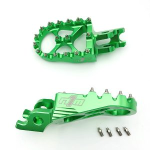 N1M Footpegs 7075-T6 Aluminum Green for kawasaki motocross