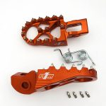 N1M Footpegs 7075-T6 Aluminum Orange for KTM motocross