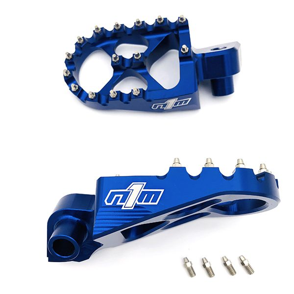 N1M Footpegs 7075-T6 Aluminum Blue for Yamaha motocross