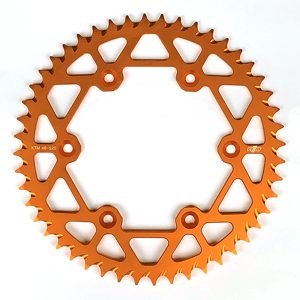 N1M 7075-T6 Aluminum Rear Sprocket Orange for motocross
