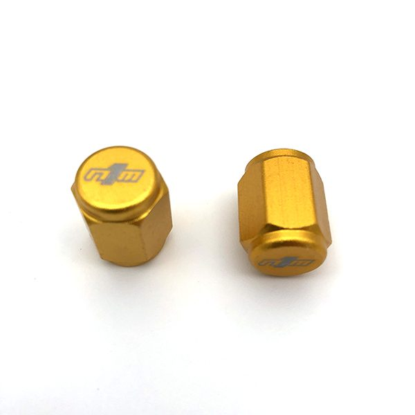 Nine1Metal Valve Stem Cap - Universal - Gold
